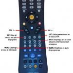 Control remoto para decodificador Motorola
