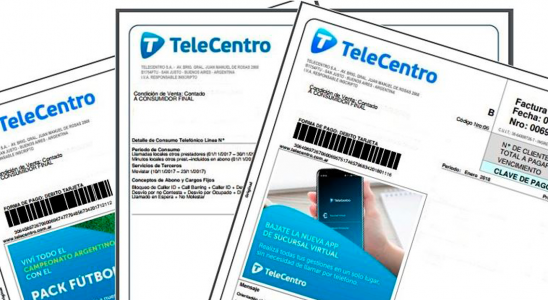 TeleCentro Factura