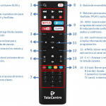 Control remoto para decodificador Smart