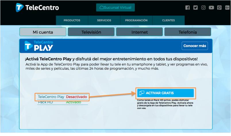Activación T-Play