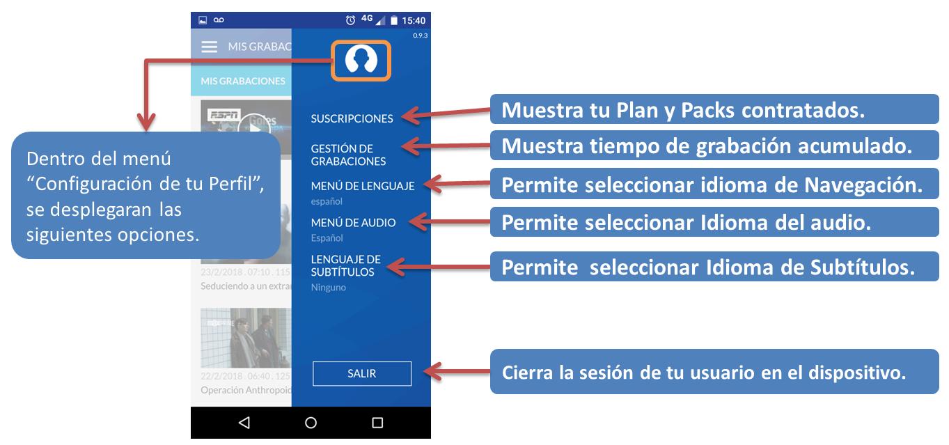 Configuración de usuario en TeleCentro Play