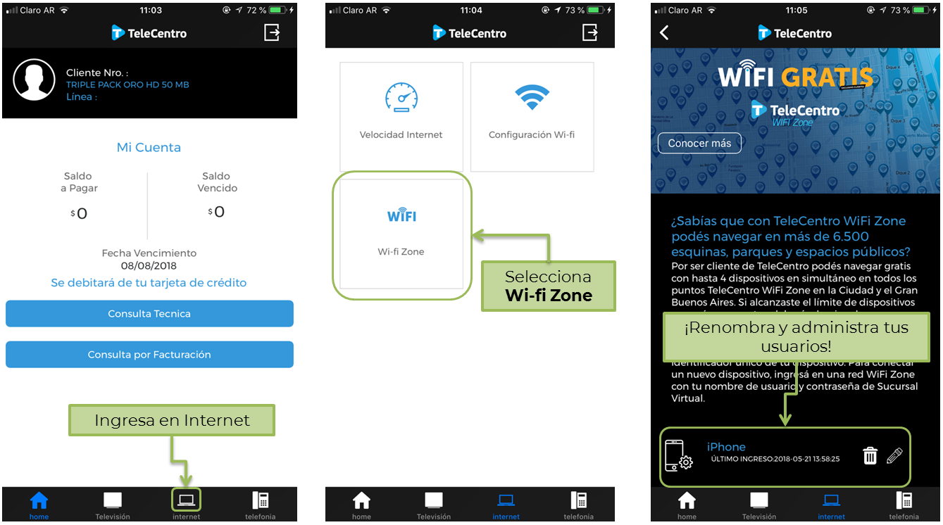 Administración de usuario desde la App de Sucursal Virtual