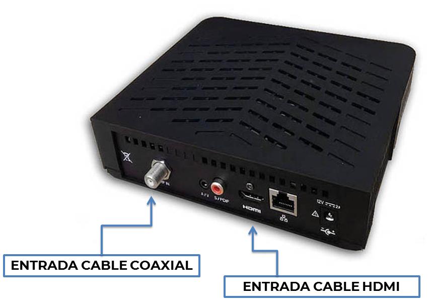 Entrada HDMI-COAXIAL en decodificador Sagemcom