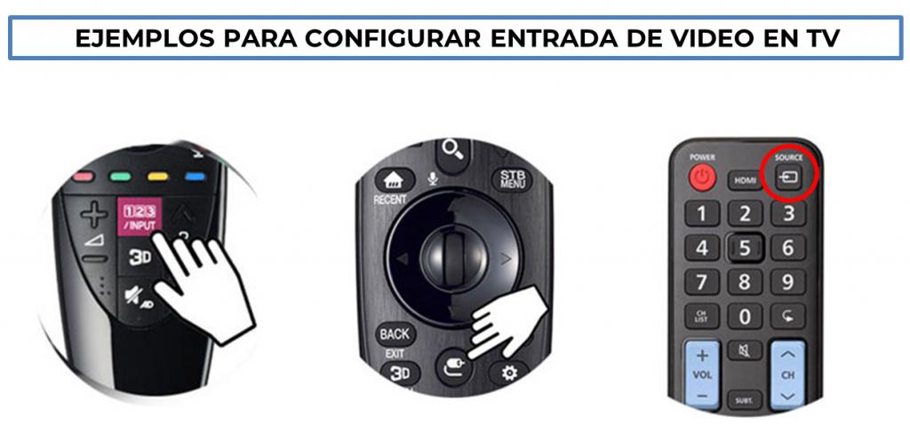 Ejemplos botones IMPUT-SOURCE