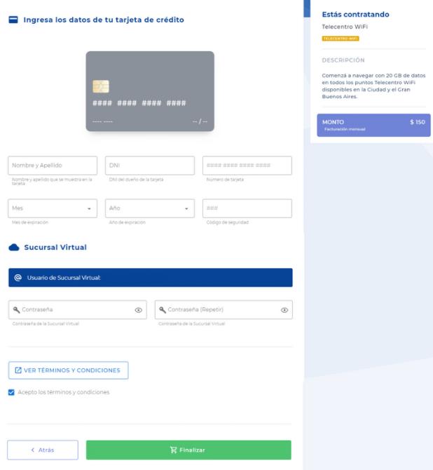 Ingresá tus datos de pago