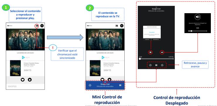 Como enviar contenido al Chromecast
